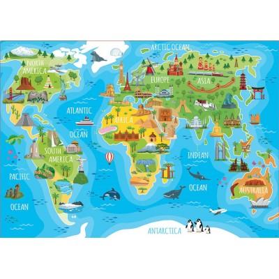 Puzzle  Educa-18116 World Map