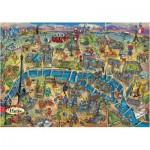 Puzzle  Educa-18452 City Maps - Paris