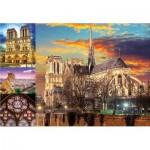 Puzzle  Educa-18456 Collage - Notre Dame de Paris