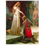 Puzzle  Eurographics-6000-0038 Edmung Blair Leighton - Der Ritterschlag