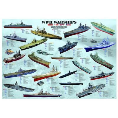 Puzzle  Eurographics-6000-0133 Kriegsschiffe des 2. Weltkrieges