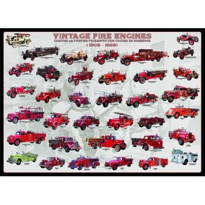 Puzzle  Eurographics-6000-0239 Oldtimer Feuerwehrautos