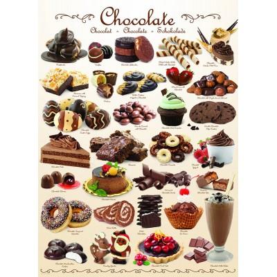 Puzzle Eurographics-6000-0411 Sweet Line - Chocolate