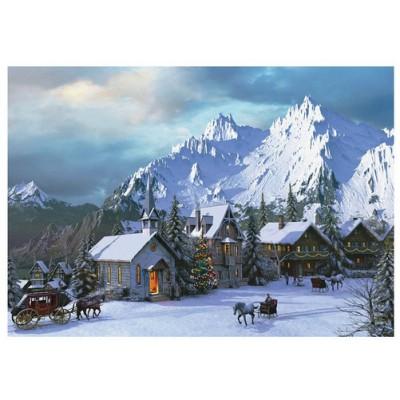Puzzle Eurographics-6000-0426 Dominic Davison: Weihnachten in den Rocky Mountains