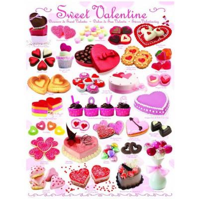 Puzzle  Eurographics-6000-0431 Valentinstag Süßigkeiten