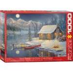 Puzzle  Eurographics-6000-0608 Sam Timm - A Cozy Christmas