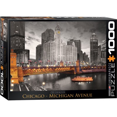 Puzzle  Eurographics-6000-0658 Chicago - Michigan Avenue