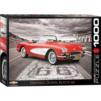 Puzzle  Eurographics-6000-0665 1959 Corvette Driving Down Route 66