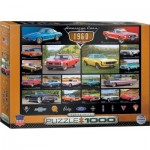 Puzzle  Eurographics-6000-0677 American Cars of the 1960s