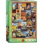 Puzzle  Eurographics-6000-0680 Pennsylvania Rail Road alte Werbeposter