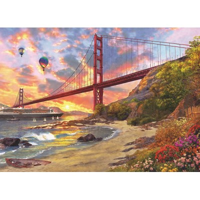 Puzzle  Eurographics-6000-0697 Dominic Davison: Sunset At Baker Beach