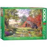 Puzzle  Eurographics-6000-0715 Dominic Davison: Abend auf dem Hof