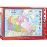 Puzzle  Eurographics-6000-0781 Karte von Kanada