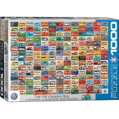 Puzzle  Eurographics-6000-0783 VW - Bunte Bulli Welt