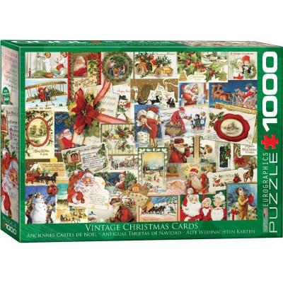 Puzzle  Eurographics-6000-0784 Vintage Weihnachtskarten