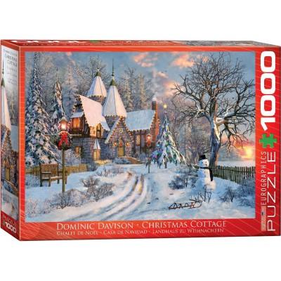 Puzzle  Eurographics-6000-0790 Dominic Davison: Landhaus zu Weihnachten