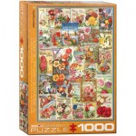Puzzle  Eurographics-6000-0806 Blumen-Saatgutkatalog