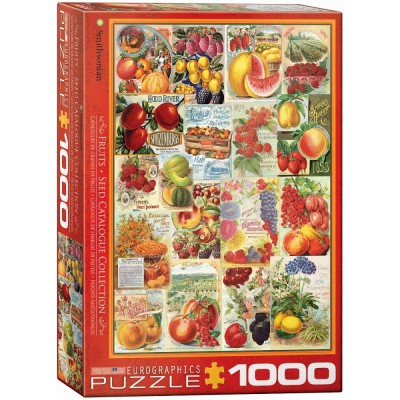Puzzle  Eurographics-6000-0818 Früchte-Saatgutkatalog