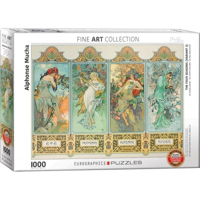 Puzzle  Eurographics-6000-0824 Mucha Alfons: Four Seasons