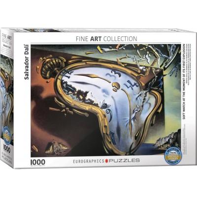 Puzzle  Eurographics-6000-0842 Dali: Weiche Uhr im Moment ihrer ersten Explosion