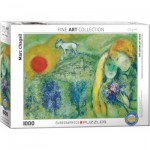 Puzzle  Eurographics-6000-0848 Marc Chagall - Liebende in Vence