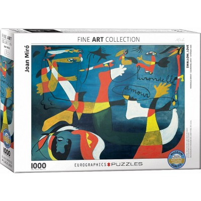 Puzzle  Eurographics-6000-0859 Joan Miro - Hirondelle Amour