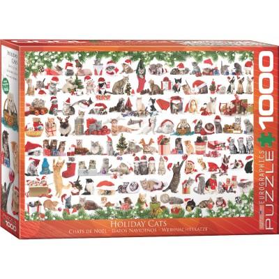 Puzzle  Eurographics-6000-0940 Weihnachtskatze