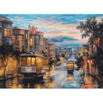 Puzzle  Eurographics-6000-0957 Eugene Lushpin - San Francisco, Cable Car Heaven