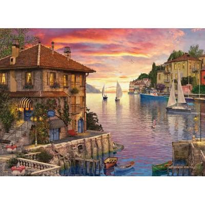 Puzzle Eurographics-6000-0962 Dominic Davison - Mediterranean Harbor
