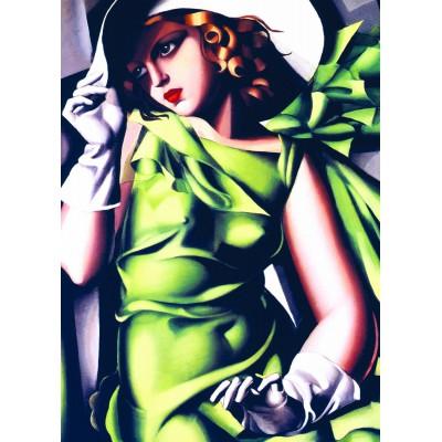 Puzzle  Eurographics-6000-1058 Tamara De Lempicka: Junges Mädchen in grün