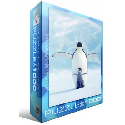 Puzzle  Eurographics-6000-1246 Pinguin und sein Kleines