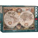 Puzzle  Eurographics-6000-1997 Antike Weltkarte