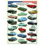 Puzzle  Eurographics-6000-3870 Amerikanische Autos