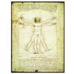 Puzzle  Eurographics-6000-5098 Leonard de Vinci: Der vitruvianische Mensch