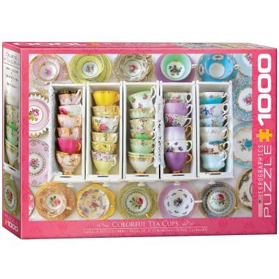 Puzzle Eurographics-6000-5342 Tea Cups Boxes