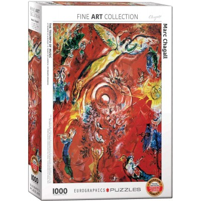 Puzzle  Eurographics-6000-5418 Marc Chagall - Der Triumph der Musik