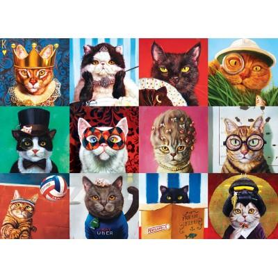 Puzzle  Eurographics-6000-5522 Lustige Katzen