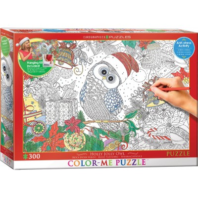 Puzzle  Eurographics-6033-0885 XXL Color Me - Weihnachtseule