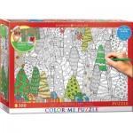Puzzle  Eurographics-6033-0886 XXL Color Me - Christmas Trees