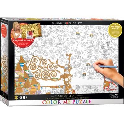 Puzzle  Eurographics-6033-0921 XXL Color Me - Gustav Klimt: Lebensbaum