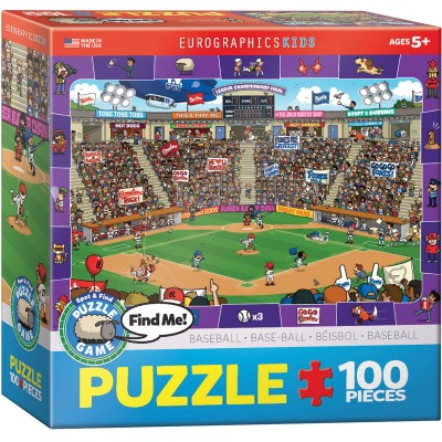 Puzzle  Eurographics-6100-0473 Find Me - Baseball