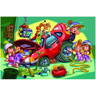 Puzzle  Eurographics-6100-0650 Girl Power - Mechanikerin