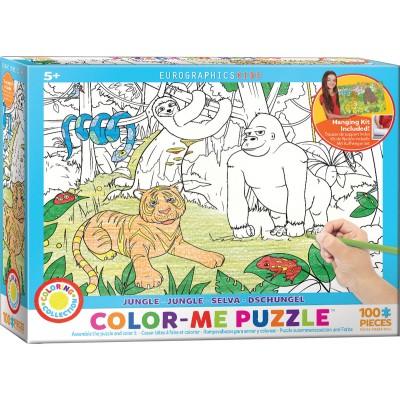 Puzzle  Eurographics-6111-0892 Color Me - Dschungel