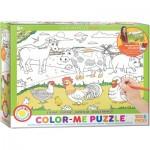 Puzzle  Eurographics-6111-0893 Color Me - Bauernhof
