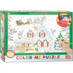 Puzzle  Eurographics-6111-0917 Color Me - Weihnachtsmanns Schlitten
