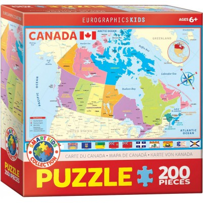 Puzzle  Eurographics-6200-0797 Karte von Kanada