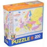Puzzle  Eurographics-6200-5374 Karte von Europa (auf Englisch)