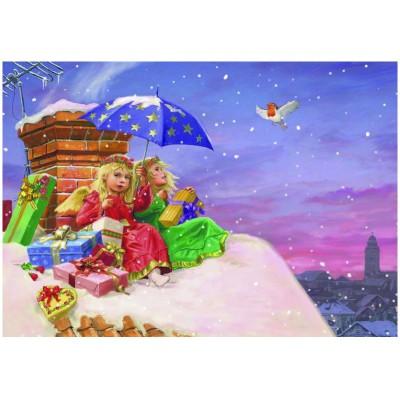 Puzzle  Eurographics-6500-0351 Michael Philip Gustafsson: Engel auf dem Dach