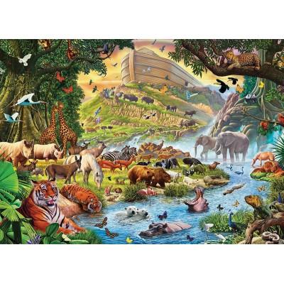 Eurographics-6500-0980 XXL Teile - Familiy Puzzle: Steve Crisp - Noah's Ark Before the Rain