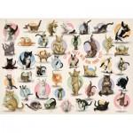 Eurographics-6500-0991 XXL Teile - Familiy Puzzle: Yoga Kittens